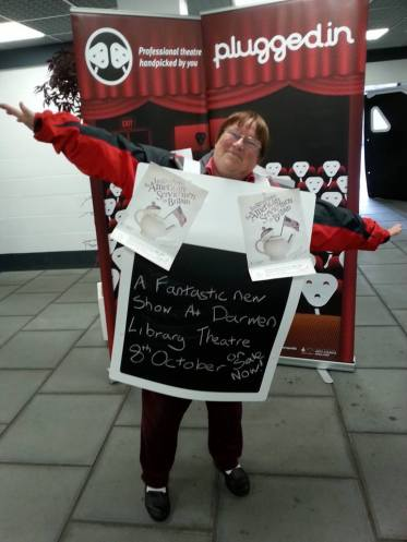 Community Promoter Dorris promoting 'American Servicemen at Darwen Market