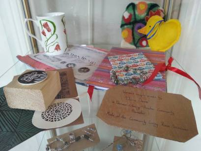 Some of our Community Promoters craft work on display in Darwen