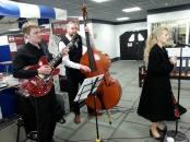 Silvermoon Jazz entertaining shoppers at Darwen Markets