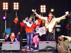 SLYNCS performing at Blackburn Festival