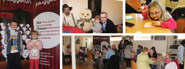 Audiences enjoying extra activities before and after The Owl Who Was Afraid of the Dark